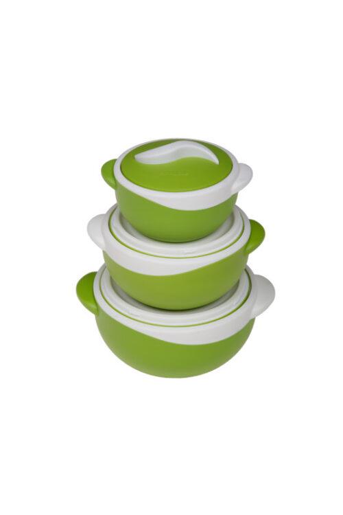 Σετ θερμός φαγητού Parisa green    500ml,1000ml,1500ml