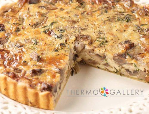 Συνταγή για αλμυρή τάρτα με μανιτάρια