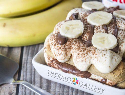 Νόστιμη συνταγή για banana bread tiramisu